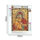 Shybuy 5D DIY Diamond Painting, Full Drill Christianity Religion Embroidery Rhinestone Cross Stitch Painting by Number Kits (C, 20cm25cm)