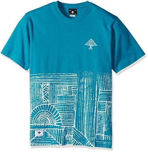 LRG Men's Big Tall Half Way There T-Shirt, Ocean Blue, 4XL - Lrg Print Jersey