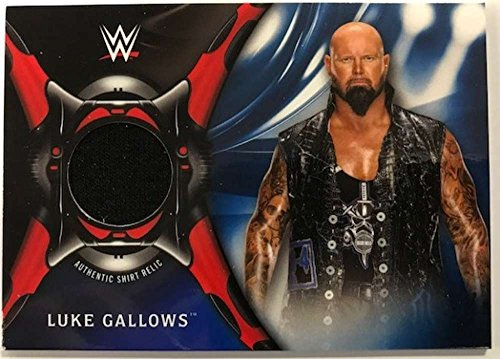 2018 Topps Road to WrestleMania Shirt Relics Blue #SR-LG Luke Gallows NM-MT MEM /50 from Road to WrestleMania