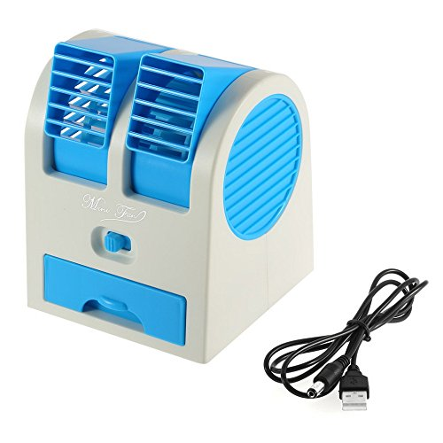 Portable USB Ultra-quiet No Leaves Mini Air Conditioning Fan Air Conditioner