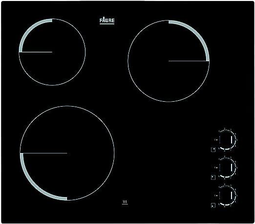 Faure FEV6131FBA Integrado Con - Placa (Integrado, Con placa de inducción, Vidrio y cerámica, Negro, 1200 W, 14,5 cm): Amazon.es: Hogar