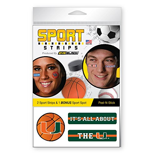 Basketball Sport Strips by EyeBlack (12 Strips) (Miami) ()