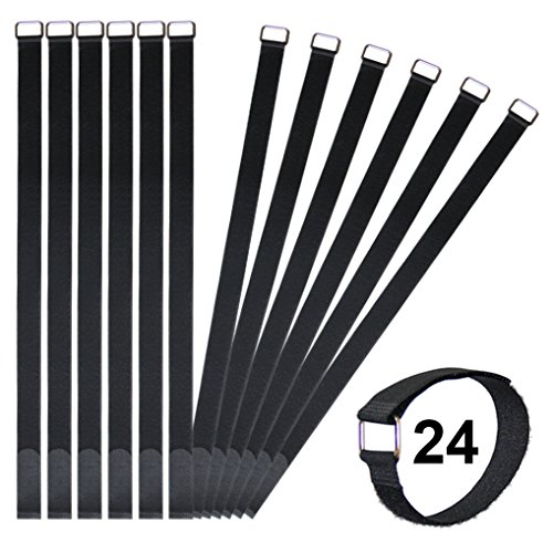 Vigaer 24 inch Cinch Cable Tie Down Straps, 12 Pcs Reusable