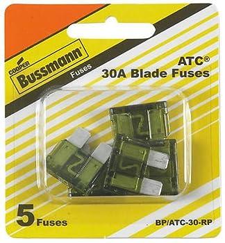 Bussman BP/ATC-30 RP 30 Amp Fuses 5 Count