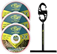 SF Clear Nylon Tippet Line with Holder Fly Fishing Tippets Leaders Trout 0X 1X 2X 3X 4X 5X 6X 7X