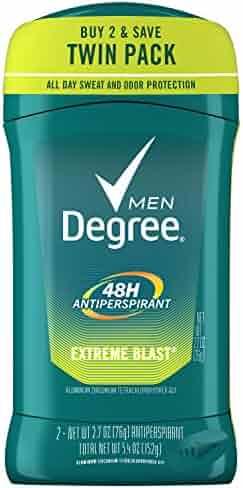 Degree Men Original Protection Antiperspirant Deodorant, Extreme Blast, 2.7 oz, 2-Pack