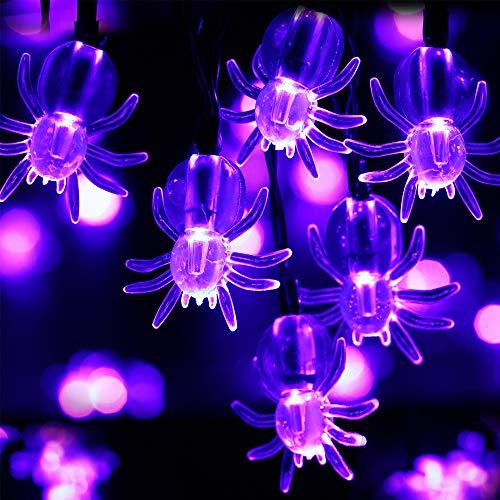 Recesky Purple Spider String Lights - 30 LED