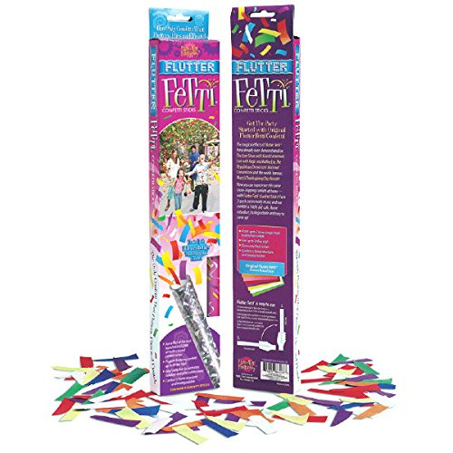 Amscan Fun-Filled Large Flutter Fetti Wands Party Supplies, Multicolored, Paper, 12'', Pack of 3 Costume for Kids (36 Piece)
