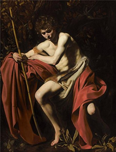 1605 Wine ('Michelangelo Merisi Da Caravaggio,Saint John The Baptist In The Wilderness,1604-1605' Oil Painting, 30x39 Inch / 76x100 Cm ,printed On Perfect Effect Canvas ,this Replica Art DecorativePrints On Canvas Is Perfectly Suitalbe For Bedroom Gallery Art And Home Gallery Art And Gifts)