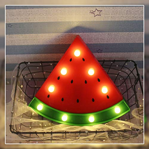 Watermelon Marquee Light GUOCHENG Decor Light LED Night Light Battery Operated Table Lamps on Wall for Party Children Kids Bedroom Lighting Decor Birthday Christmas Gifts for Kids (Red Watermelon)