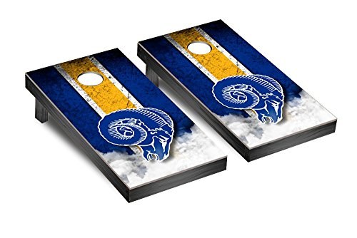 NFL Los Angeles Rams Throwback Vintage Version Football Corn hole Game Set, One Size by Victory Tailgate
