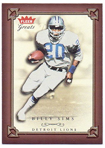 (Billy Sims 2004 Fleer Greats of the Game #42 - Detroit Lions)