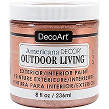 Decoart DECADOL-36.30 OutdoorLivingMetllcs8ozRoseGld Americana Outdoor Living Metllcs8ozRoseGld