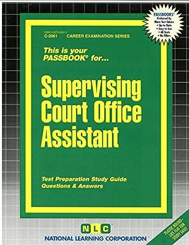 supervising court office assistant passbooks jack rudman rh amazon com Senior Citizen Personal Assistant Jobs Assisting Senior Citizens
