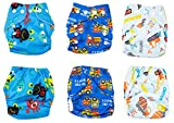 Newborn Cloth Diaper 6-Pack Covers With Inserts (Boy)