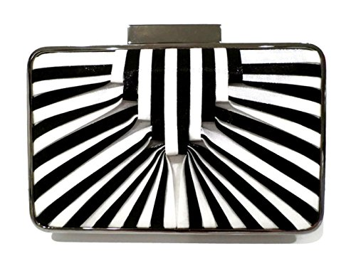 sondra-roberts-satin-stripe-minaudiere-box-clutch-shoulder-bag-white