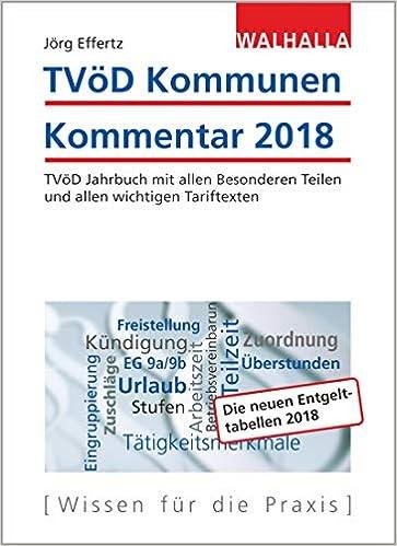 Tvöd Jahrbuch Kommunen 2018 Kommentierte Textsammlung Tvöd Mit