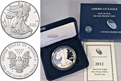 2012 2012 W 1oz Proof Silver Coin $1 American Eagle Un coin Good Uncertified
