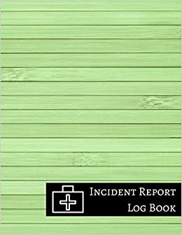 Amazon Com Incident Report Log Book 9781521095102 Journals For