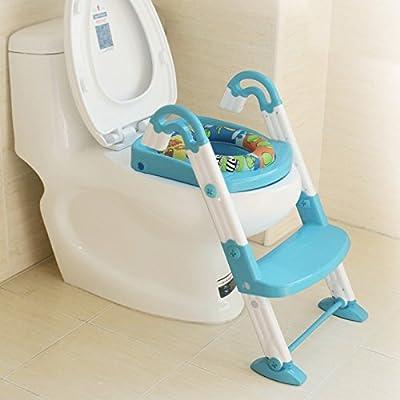btzll para bebés, multifunción escalera tipo para inodoro para niños, baby-assisted inodoro bebé orinal: Amazon.es: Hogar