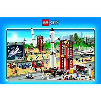 Amazoncom Lego City Space Poster Art Print Posters  Prints