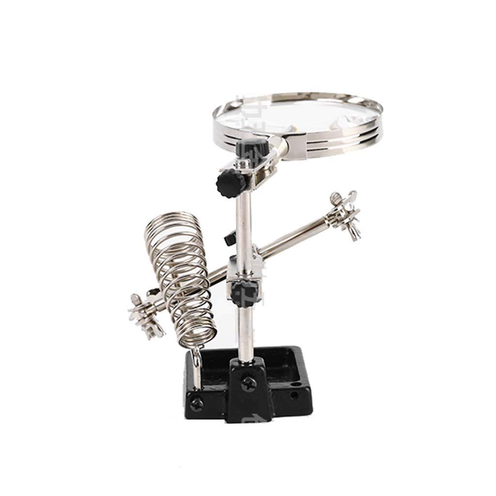 Gona Helping Hand Magnifier Stand - Lente De Aumento De Soldador, Ideal para Soldar, Elaborar E Inspeccionar Micro Objetos: Amazon.es: Hogar