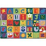 Toddler Alphabet Blocks Carpet (4' x 6')