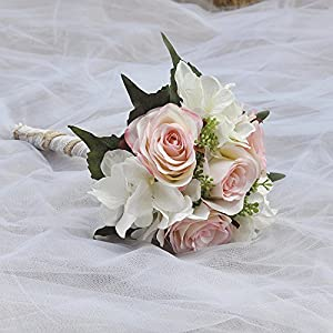 Azaleas Wedding Bouquet Bride Bridal Brooch Bouquet Bridesmaid Bouquet Valentine's Day Flowers Bouquet 5