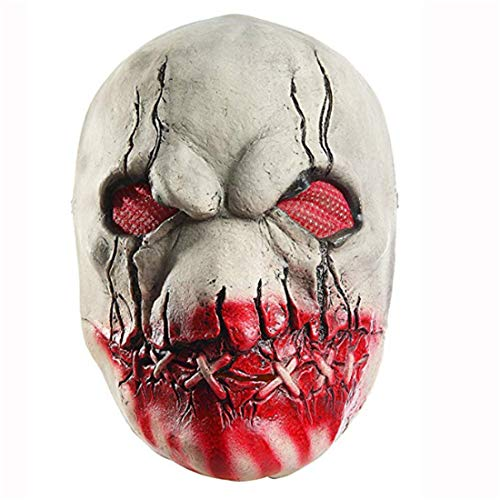 Waltz&F Scary Halloween Cosplay Props Horror Bloody Butcher Mask Halloween Costume Party Props Masks]()
