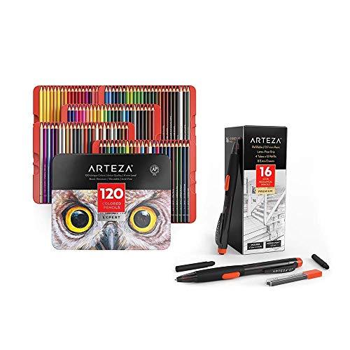 Arteza Colored Pencils and HB Mechanical Pencils Bundle