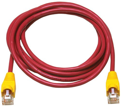 Allen Tel AT1503-REC Category 5e Ethernet Crossover Cable, 3-Foot Length, Red, AT15 Series, U/UTP Patch Cable, 2 Pair, 4 Stranded Copper Conductor