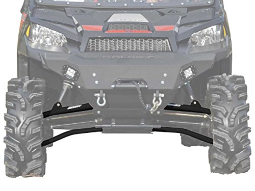 SuperATV Polaris Ranger Fullsize 570 / 900 / 1000 High Clearance Forward Offset A-Arms (2013+) - Black - Polaris Ranger Tires
