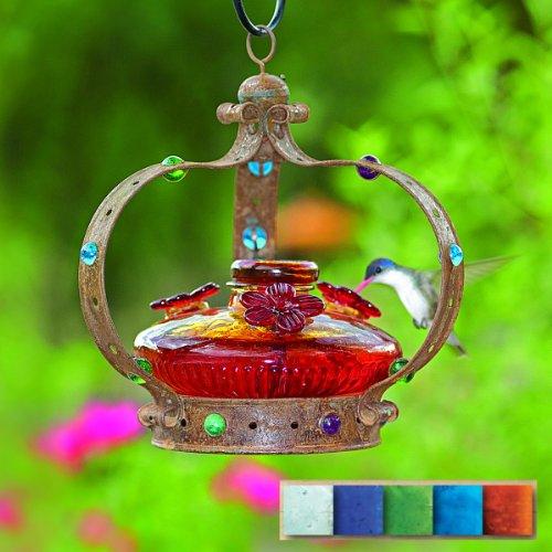 - Par-A-Sol - Camelot Bloom Hummingbird Feeder- Blue - CAMBLOOMB