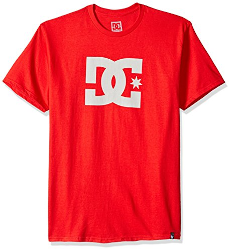 DC Men's Star Short Sleeve TEE Shirt, Tango red/Snow White L ()
