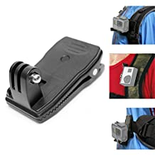 Fantaseal® Action Camera Backpack Clamp Mount Sports Camera Rucksack Clip Mount 360 degree Rotary Clamp for GoPro Hero 5 Clamp Mount GoPro Hero 5 Clip Mount GoPro Hero 5 Backpack Mount GoPro Hero 5 Hat Mount Gopro Hero 5 Travel Clamp Mount for GoPro Hero 5 Black / Hero 5 Session Action Camera Clamp Mount Clip Mount