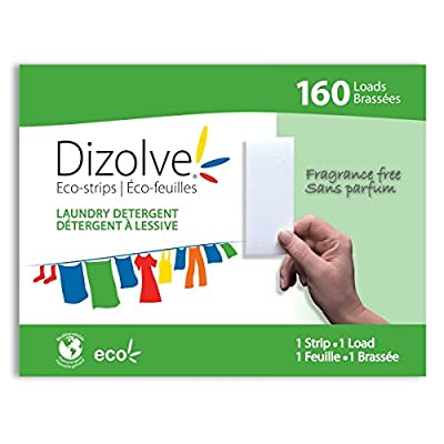 Dizolve Eco-strips 160 Loads Fragrance Free