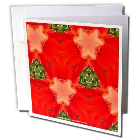 signs Kaleidoscope - Kaleidoscope Tulip Red - 1 Greeting Card with envelope (gc_5796_5) ()