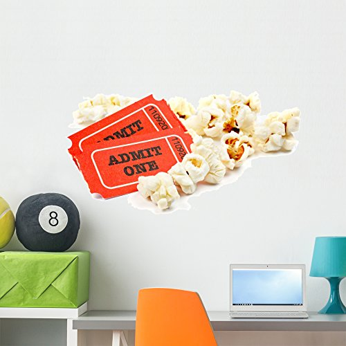 Wallmonkeys Popcorn Movie Tickets Wall Decal Peel and Stick Business Graphics (36 in W x 24 in H) WM335825 by Wallmonkeys