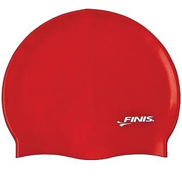 Finis Silicone Cap - Gorro de natación de silicona, color rojo