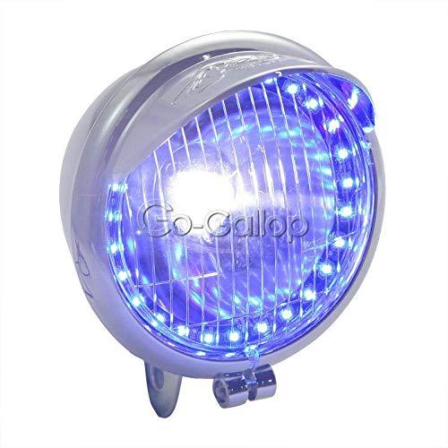 REFIT Headlight LED Angel Eye for Honda Shadow VT VT1100 VT750 VT600 VF750 Magna 750/For Kawasaki Vulcan VN 800 900 1500 1600
