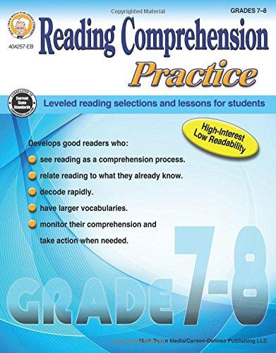 Reading Comprehension Practice, Grades 7 - 8 for $<!--$8.45-->