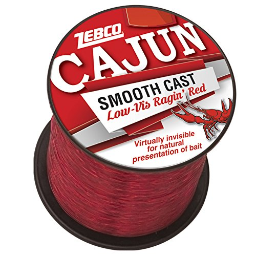 Cajun Line Zebco Cajun Low-Vis Fishing Line 1/4- Lb/Test Spool 10 Lb/Test Low-Viz Ragin Red, 10 lb 10 Lb Test Fishing Line