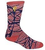 For Bare Feet NBA-Fiber- Mens Crew Socks-Cleveland Cavs-Large