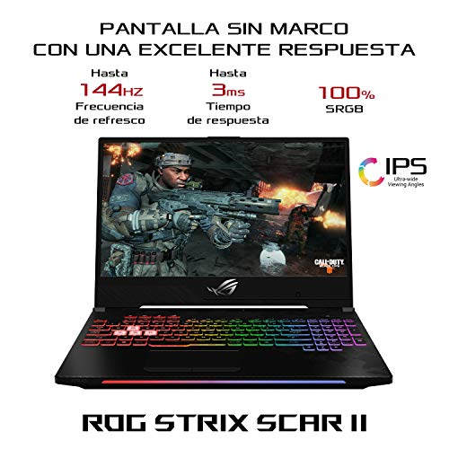 ASUS ROG Strix Scar II GL504GV-ES020 - Ordenador portátil Gaming 15.6