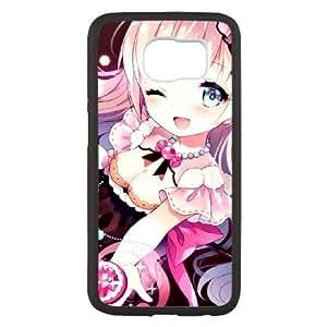M6Q20 Anime chica A4O2OB funda Samsung Galaxy S6 caso del teléfono celular Funda Cubierta Negro AX1DPN5TK
