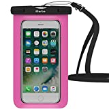 Waterproof Case,1 Pack iBarbe Universal Cell Phone Dry Bag Pouch Underwater Cover for Apple iPhone 7 7 plus 6S 6 6S Plus SE 5S 5c samsung galaxy Note 5 s8 s8 plus S7 S6 Edge s5 etc.to 5.7 inch,Rose
