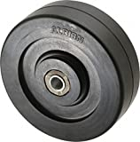 Albion RR0304108 3'' Diameter Solid Rubber Wheel, 1-1/4'' Tread Width, Plain Bore, 1-3/8'' Hub Length, 1-1/16'' Bore ID, 1/2'' Bearing ID, 125 lb. Capacity