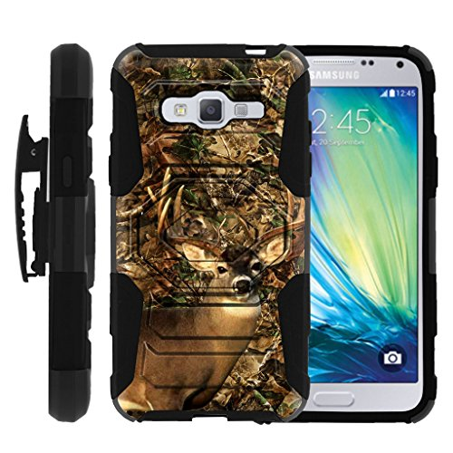E-deer Electronic Primos - MINITURTLE Case Compatible with Samsung Galaxy J3 / Express Prime / Amp Prime (2016) [Rugged Case w/ 180 Swivel Clip] - Deer Camo