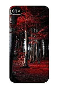 Snap-on Red Woods Path Case Cover Skin Series Compatible With Iphone 4/4s