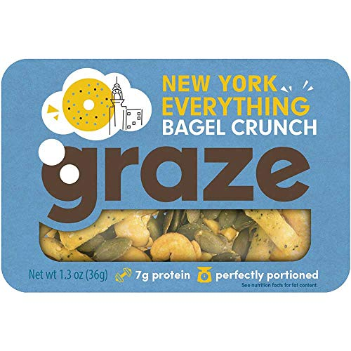 Graze New York Everything Bagel Crunch, 6 count per pack -- 12 per case.